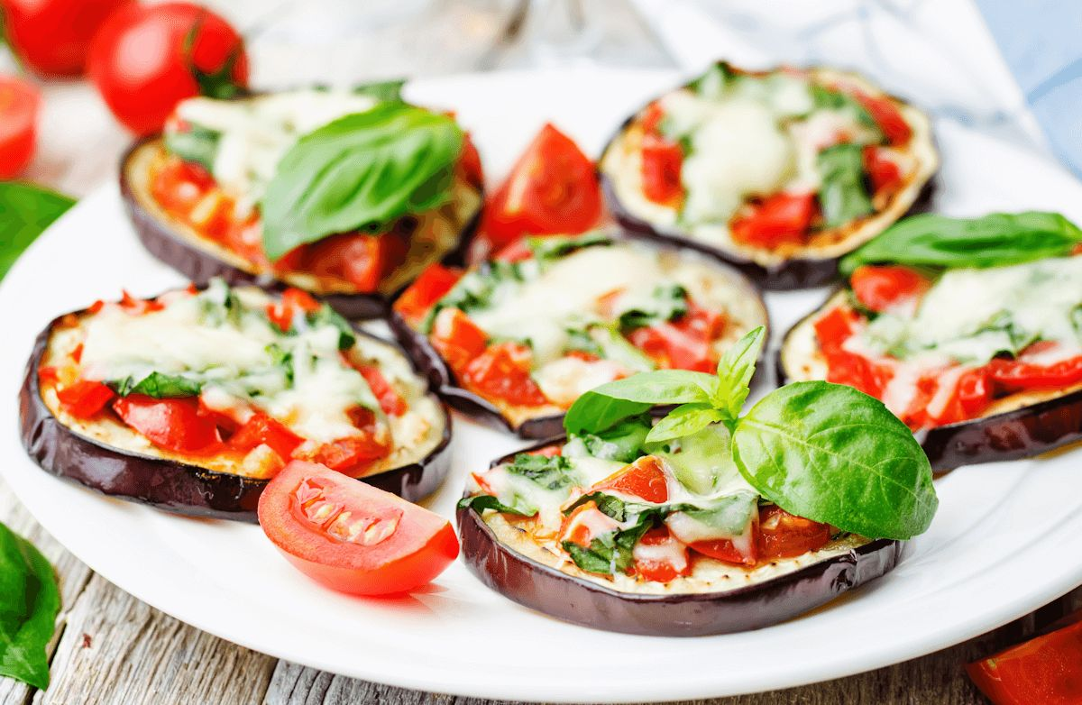 Eggplant Mini pizzas